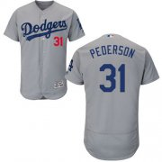 Wholesale Cheap Dodgers #31 Joc Pederson Grey Flexbase Authentic Collection Stitched MLB Jersey