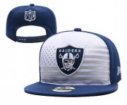 Wholesale Cheap Raiders Team Logo Navy White 2019 Draft Adjustable Hat YD