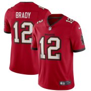 Wholesale Cheap Tampa Bay Buccaneers #12 Tom Brady Men's Nike Red Vapor Limited Jersey