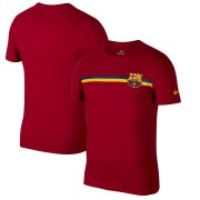 Wholesale Cheap Barcelona Nike Logo Crest T-Shirt Red
