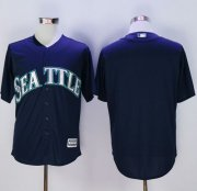 Wholesale Cheap Mariners Blank Navy blue New Cool Base Stitched MLB Jersey