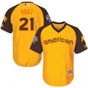 Wholesale Cheap Athletics #21 Stephen Vogt Gold 2016 All-Star American League Stitched Youth MLB Jersey