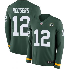 Wholesale Cheap Nike Packers #12 Aaron Rodgers Green Team Color Youth Stitched NFL Limited Therma Long Sleeve Jersey