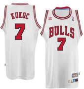 Wholesale Cheap Chicago Bulls #7 Toni Kukoc White Swingman Throwback Jersey