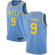 Wholesale Cheap Women's Nike Los Angeles Lakers #9 Rajon Rondo Royal Blue NBA Swingman Hardwood Classics Jersey