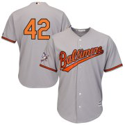 Wholesale Cheap Baltimore Orioles #42 Majestic 2019 Jackie Robinson Day Official Cool Base Jersey Gray