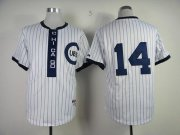 Wholesale Cubs #14 Ernie Banks White 1909 Turn Back The Clock Stitched Baseball Jersey