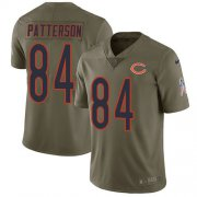 Wholesale Cheap Nike Bears #84 Cordarrelle Patterson Olive Men's Stitched NFL Limited 2017 Salute To Service Jersey