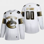 Wholesale Cheap Vancouver Canucks Custom Men's Adidas White Golden Edition Limited Stitched NHL Jersey