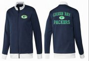 Wholesale Cheap NFL Green Bay Packers Heart Jacket Dark Blue
