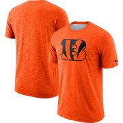 Wholesale Cheap Men's Cincinnati Bengals Nike Orange Sideline Cotton Slub Performance T-Shirt