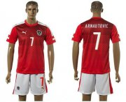 Wholesale Cheap Austria #7 Arnautovic Red Home Soccer Country Jersey