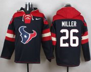 Wholesale Cheap Nike Texans #26 Lamar Miller Navy Blue Player Pullover NFL Hoodie