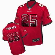 Wholesale Cheap Nike 49ers #25 Richard Sherman Red Team Color Men's Stitched NFL Elite Drift Fashion Jersey