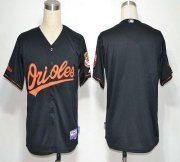 Wholesale Cheap Orioles Blank Black Cool Base Stitched MLB Jersey