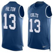 Wholesale Cheap Nike Colts #13 T.Y. Hilton Royal Blue Team Color Men's Stitched NFL Limited Tank Top Jersey