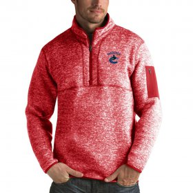 Wholesale Cheap Vancouver Canucks Antigua Fortune Quarter-Zip Pullover Jacket Red
