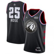 Wholesale Cheap Timberwolves #25 Derrick Rose Black Basketball Jordan Swingman 2019 All-Star Game Jersey