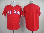Wholesale Rangers Blank Red 40th Anniversary Patch Stitched Baseball Jersey