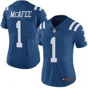 Wholesale Cheap Nike Colts #1 Pat McAfee Royal Blue Women's Stitched NFL Limited Rush Jersey