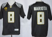 Wholesale Cheap Oregon Ducks #8 Marcus Mariota 2013 Black Limited Jersey