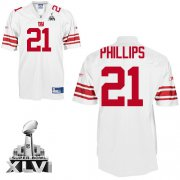 Wholesale Cheap Giants #21 Kenny Phillips White Super Bowl XLVI Embroidered NFL Jersey