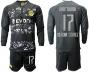 Wholesale Cheap Dortmund #17 Sergio Gomez Away Long Sleeves Soccer Club Jersey