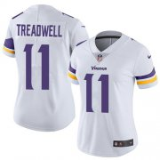 Wholesale Cheap Nike Vikings #11 Laquon Treadwell White Women's Stitched NFL Vapor Untouchable Limited Jersey