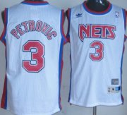 Wholesale Cheap New Jersey Nets #3 Drazen Petrovic White Throwback Swingman Jersey