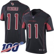 Wholesale Cheap Nike Cardinals #11 Larry Fitzgerald Black Men's Stitched NFL Limited Rush 100th Season Jersey