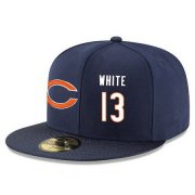Wholesale Cheap Chicago Bears #13 Kevin White Snapback Cap NFL Player Navy Blue with White Number Stitched Hat