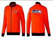 Wholesale Cheap NFL Seattle Seahawks Team Logo Jacket Orange
