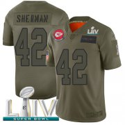 Wholesale Cheap Nike Chiefs #42 Anthony Sherman Camo Super Bowl LIV 2020 Men's Stitched NFL Limited 2019 Salute To Service Jersey