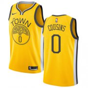 Wholesale Cheap Nike Warriors #0 DeMarcus Cousins Gold NBA Swingman Earned Edition Jersey