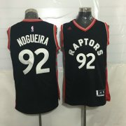 Wholesale Cheap Men's Toronto Raptors #92 Lucas Nogueira Black With Red New NBA Rev 30 Swingman Jersey