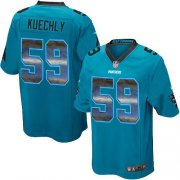 Wholesale Cheap Nike Panthers #59 Luke Kuechly Blue Alternate Men's Stitched NFL Limited Strobe Jersey