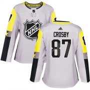 Wholesale Cheap Adidas Penguins #87 Sidney Crosby Gray 2018 All-Star Metro Division Authentic Women's Stitched NHL Jersey