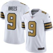 Wholesale Cheap Nike Saints #9 Drew Brees White Men's Stitched NFL Limited Rush Jersey