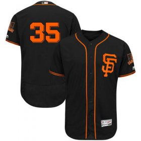 Wholesale Cheap Giants #35 Brandon Crawford Black Flexbase Authentic Collection Alternate Stitched MLB Jersey