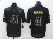 Wholesale Cheap Men's New Orleans Saints #41 Alvin Kamara Black 2020 Salute To Service Stitched NFL Nike Limited Jersey