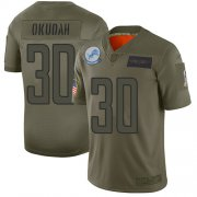 Wholesale Cheap Nike Lions #30 Jeff Okudah Camo Youth Stitched NFL Limited 2019 Salute To Service Jersey