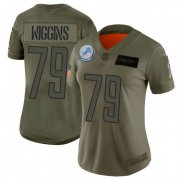 Wholesale Cheap Nike Lions #79 Kenny Wiggins Camo Women's Stitched NFL Limited 2019 Salute To Service Jersey