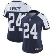 Wholesale Cheap Nike Cowboys #24 Chidobe Awuzie Navy Blue Thanksgiving Women's Stitched NFL Vapor Untouchable Limited Throwback Jersey