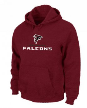 Wholesale Cheap Atlanta Falcons Authentic Logo Pullover Hoodie Red