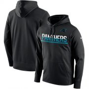 Wholesale Cheap Men's Carolina Panthers Nike Black Sideline Circuit Pullover Performance Hoodie