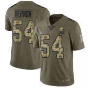Wholesale Cheap Nike Browns #54 Olivier Vernon Olive/Camo Youth Stitched NFL Limited 2017 Salute to Service Jersey