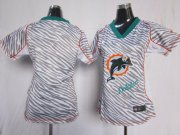 Wholesale Cheap Nike Dolphins Blank Zebra Women's Stitched NFL Elite Jersey