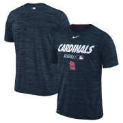 Wholesale Cheap St. Louis Cardinals Nike Authentic Collection Velocity Team Issue Performance T-Shirt Navy