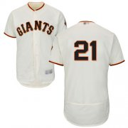 Wholesale Cheap Giants #21 Stephen Vogt Cream Flexbase Authentic Collection Stitched MLB Jersey