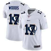 Wholesale Cheap Los Angeles Rams #17 Robert Woods White Men's Nike Team Logo Dual Overlap Limited NFL Jersey